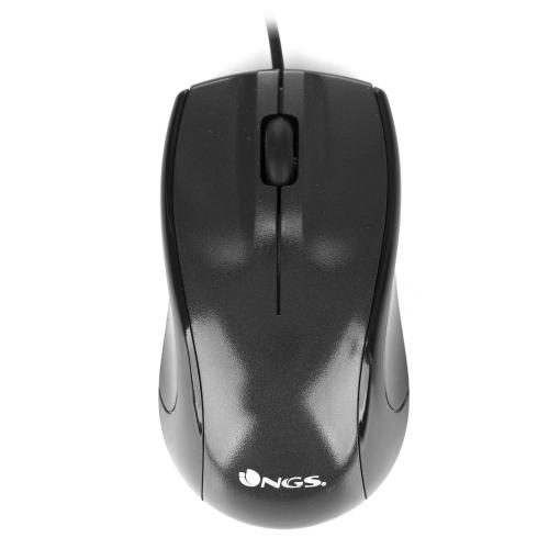 RATON  NGS USB  SOBREMESA OPTICAL WIRED MOUSE BLACK MIST