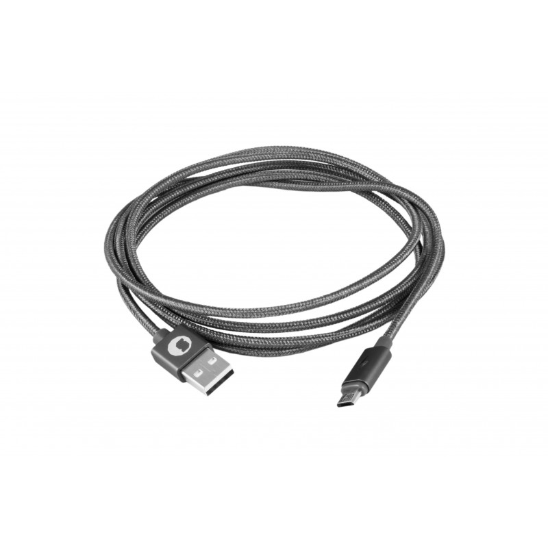 CABLE USB 2.0 TIPO A/M-MICRO USB B/M SILVER HT 1.5M 93639