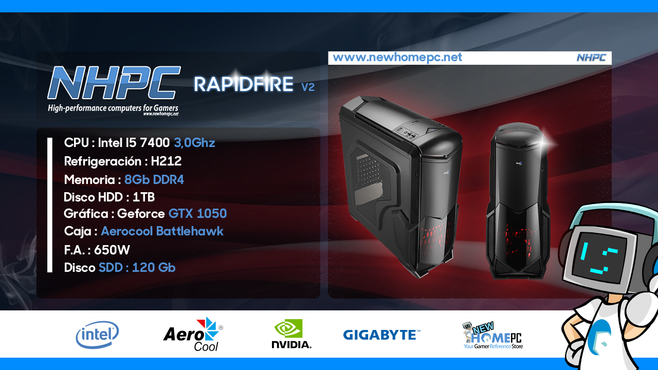 PC Gaming NHPC RAPIDFIRE