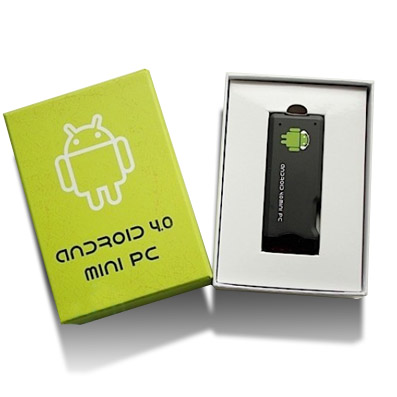 MINI PC ANDROID 4.0 CONNECTION HDMI USB WIFI 1GB RAM HD4GB