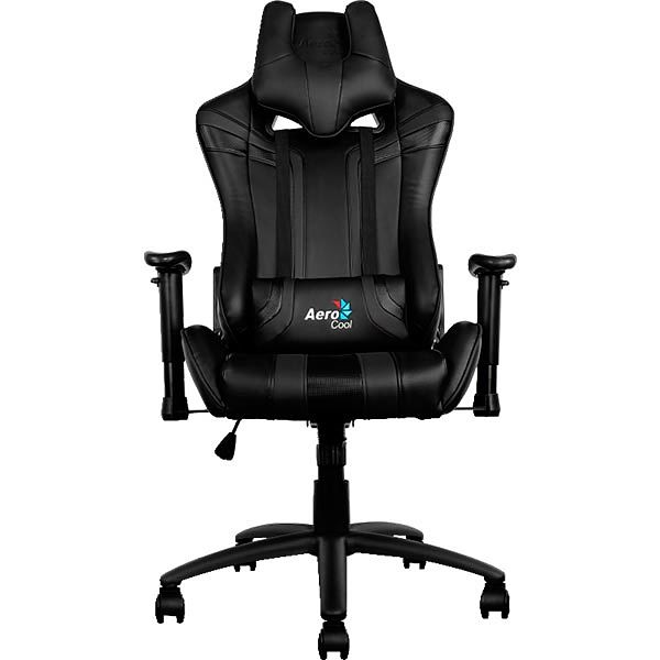 SILLA GAMER AEROCOOL AC120BB COLOR NEGRO ASIENTO RECLINABLE 180º BRAZOS REGULABLES