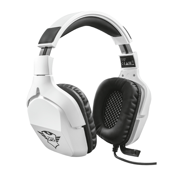 AURICULARES TRUST GAMING GXT 354 CREON 7.1 MICRO Y DIADEMA AJUSTABLE CABLE 2M PARA PC COLOR BLANCO 22054