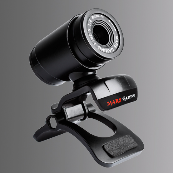 WEBCAM HD MARS GAMING   SENSOR HD 720P CANCELACION DE RUIDOS DISEÑO CON CLIP ADAPTABLE