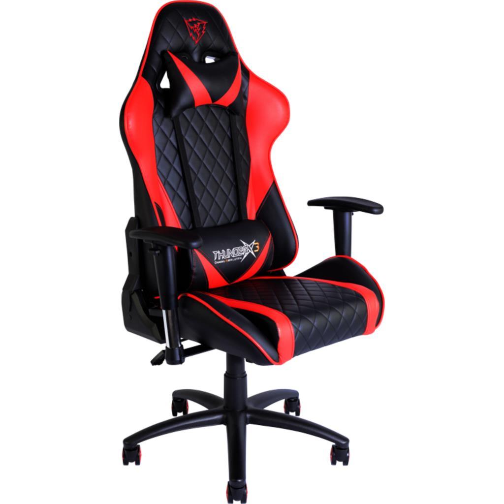 Silla gamer pro thunderx3 tgc15br color negro rojo asiento for Sillas para gamers