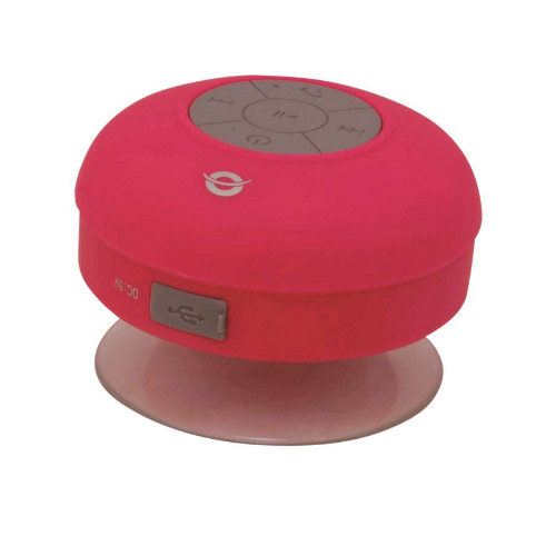 ALTAVOZ CONCEPTRONIC BLUETOOTH CON VENTOSA IMPERMEABLE COLOR ROSA