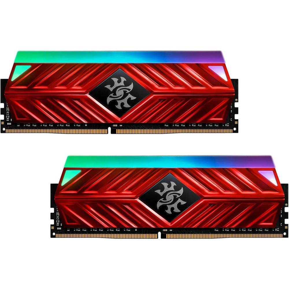 MEMORIA ADATA DIMM DDR4 16GB (2X8GB) 3200MHZ CL16 XPG SPECTRIX D41 LED-RGB RED