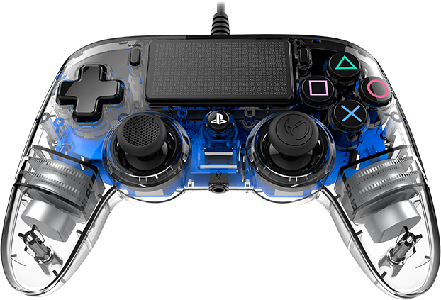 Mando Nacon con cable blue licencia oficial de Sony PS4 y PC