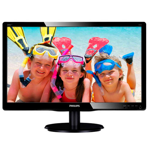 MONITOR 19.5 PHILIPS 200V4LAB MULTIMEDIA AUDIO 2W 5MS VGA DVI 250CD/M2 10M:1 COLOR NEGRO
