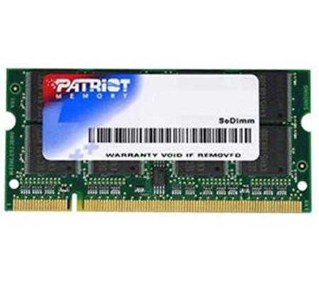 MEMORIA SODIMM DDR2 2GB PC2-6400 800MHZ PATRIOT PSD22G8002S