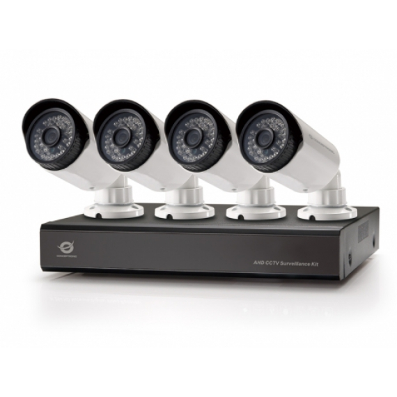 KIT VIDEOVIGILANCIA AHD CONCEPTRONIC 8 CANALES INCLUYE 4 CAMARAS INT/EXT + GRABADOR HD 1TB VERSION 1