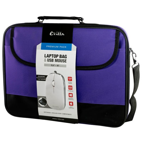 BOLSA PORTATIL  16 EVITTA LAPTOP BAG PREMIUM +RATON PURPLE EVLB000302