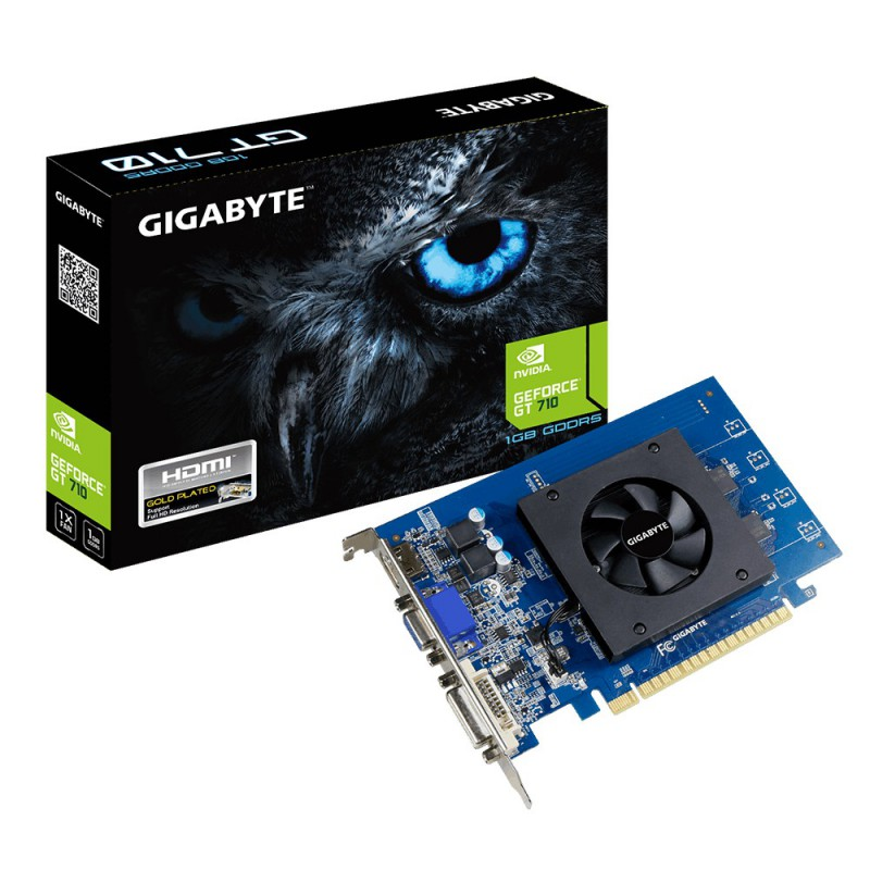 VGA  PCI-EX NVIDIA  GIGABYTE GT710 1GB DDR5 HDMI/DVI/PCI LOW PROFILE