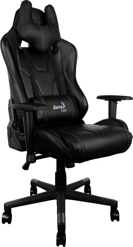 SILLA GAMER AEROCOOL AC220BB COLOR NEGRO ASIENTO RECLINABLE 180º BRAZOS REGULABLES RUEDAS FORMATO LLANTA