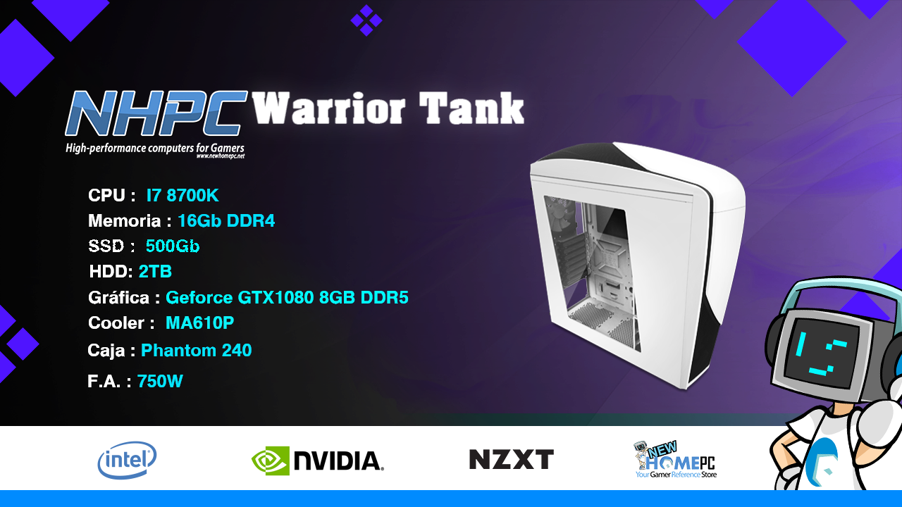 PC Gaming NHPC Warrior Tank