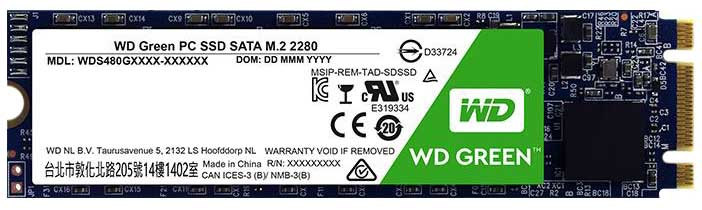 HD M2 SSD 120GB SATA3 WD GREEN