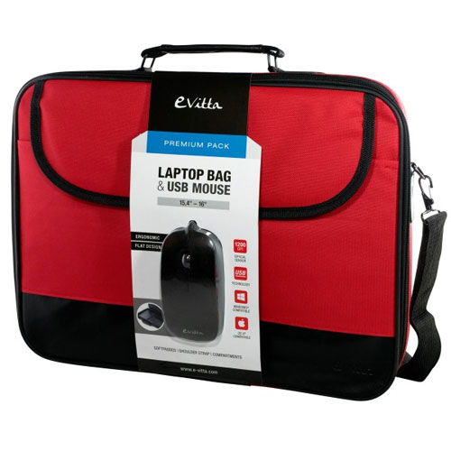 BOLSA PORTATIL  16 EVITTA LAPTOP BAG PREMIUM +RATON RED EVLB000301