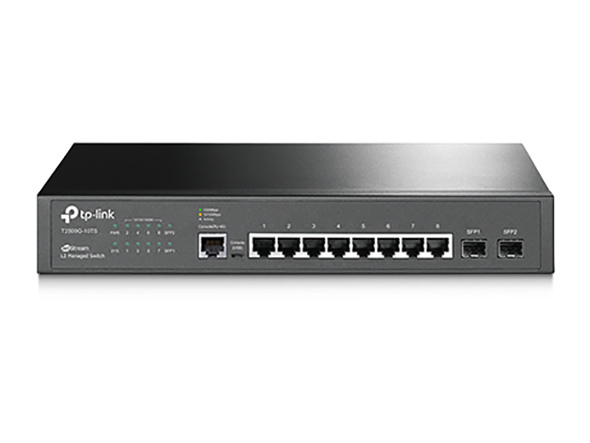 SWITCH GESTIONABLE L2 TP-LINK  T2500G-10TS 8P GIGA CON 2P COMBO GIGA RACK