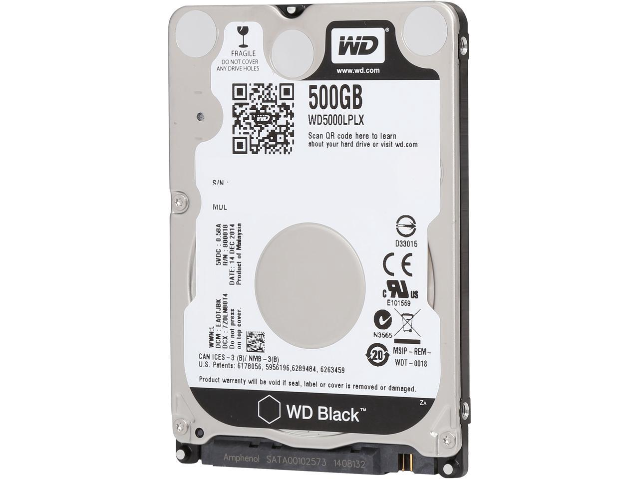 "HDD 500Gb Western Digital Black 2.5"" SATA3 7200rpm"