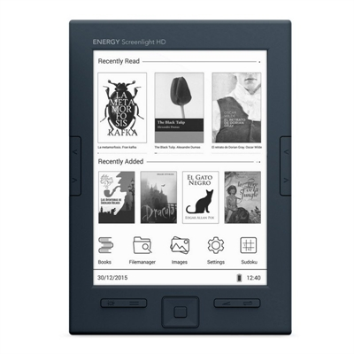 "Energy Sistem ebook eReader Screenlight HD 6"""" Luz"