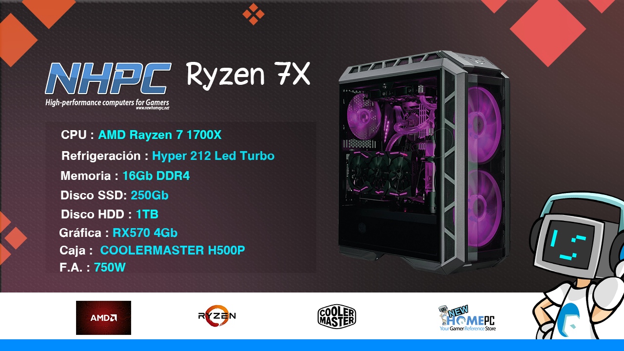 PC Gaming NHPC RYZEN 7X