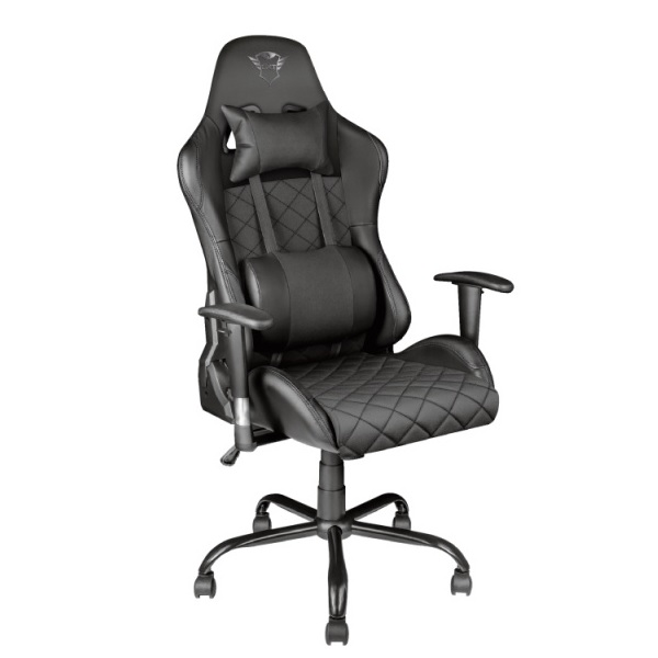 SILLA TRUST GAMING GXT 707R GIRATORIA 360º  RESPALDO AJUSTABLE 90º ASIENTO RECLINABLE CON BLOQUEO  COLOR NEGRO 23287