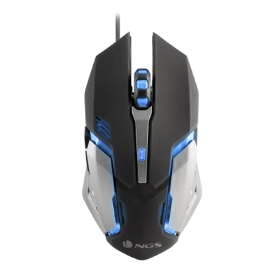 NGS Ratón Gaming GMX-100 7 Colores LED 2200 DPI