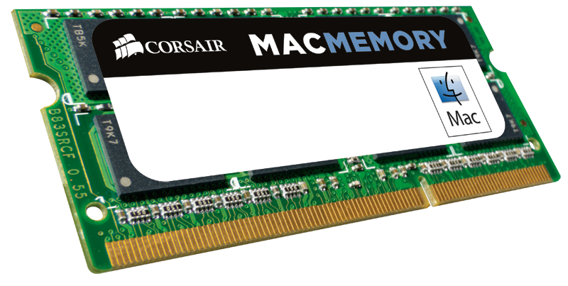 MEMORIA SODIMM DDR3 4GB PC3-10600 1333MHZ CORSAIR MAC 1.5V CMSA4GX3M1A1333C9