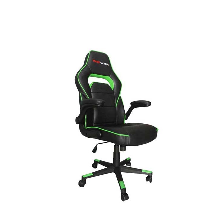 SILLA GAMER  MARS GAMING MGC117BG COLOR NEGRO/VERDE