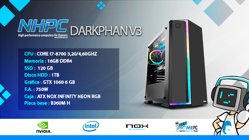 PC Gaming NHPC Darkphan V3