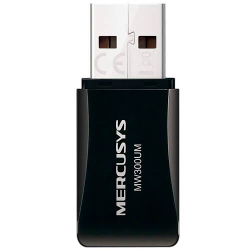 ADAPTADOR RED MERCUSYS MW300UM USB2.0 WIFI-N/300MBPS MINI